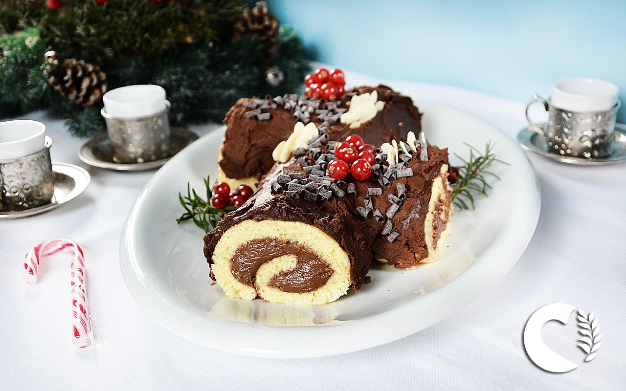 Tronchetto Di Natale Per Celiaci.Tronchetto Di Natale O Bouche De Noel Senza Glutine