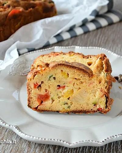 Plumcake salato di verdure, senza glutine e senza lattosio