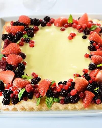 Crostata morbida alla frutta senza glutine e senza lattosio