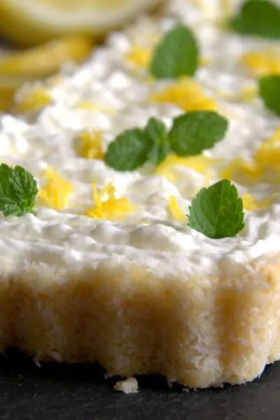 Crostata cocco e limone senza cottura