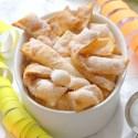 Chiacchiere senza glutine allo yogurt