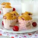 Muffin senza glutine alle ciliege