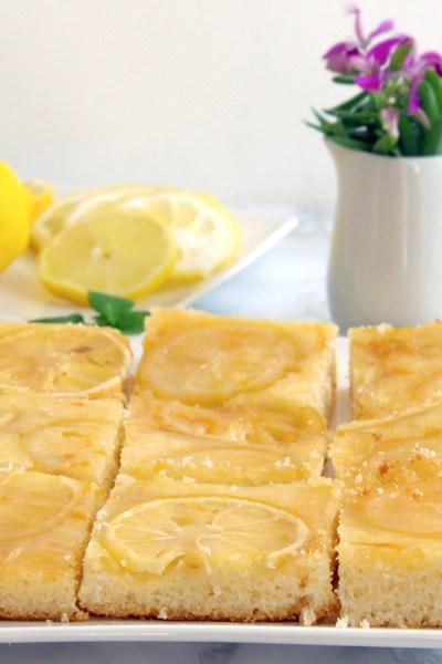 Torta rovesciata al limone senza glutine e senza lattosio
