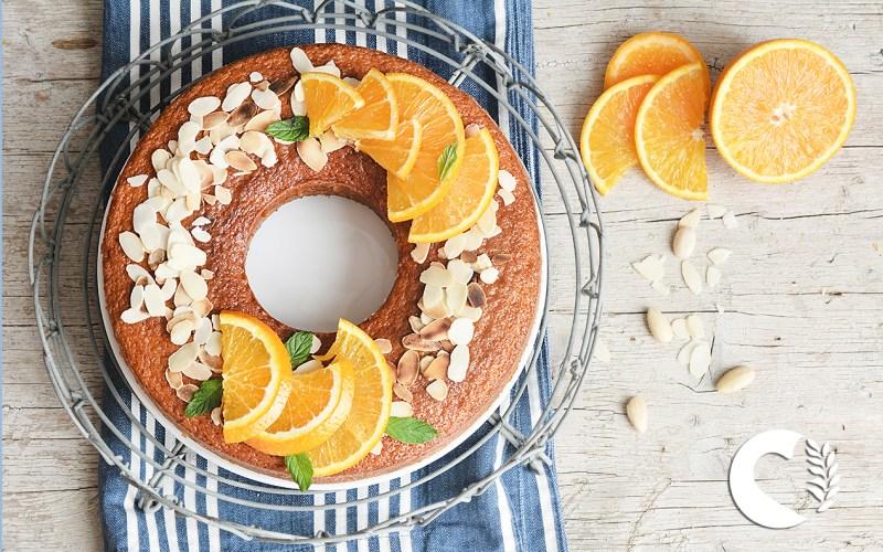 Ciambella velocissima all'arancia frullata senza glutine