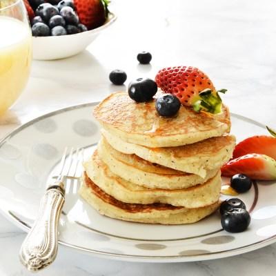 Pancakes allo yogurt naturalmente senza glutine