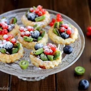 Cestini di sfoglia ai piccoli frutti