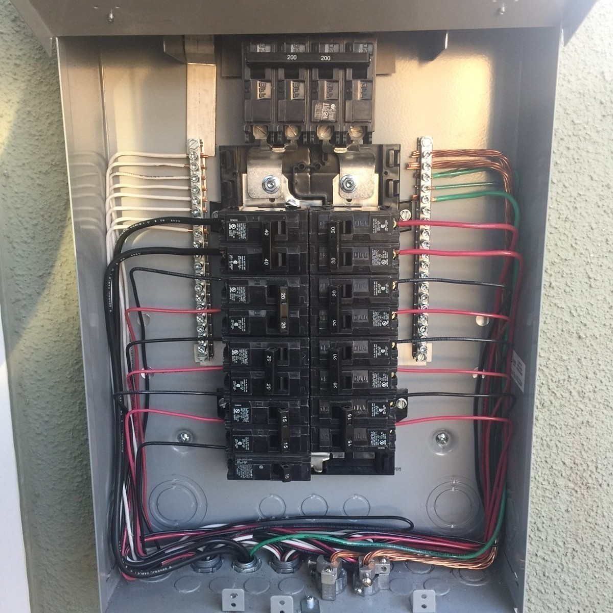 Romex Cable Wired Into The Circuit Breaker