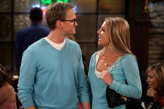 """Everything Must Go"" -- When Barney (Neil Patrick Harris) and Abby (guest star Britney Spears) realize that they have one thing in common -- their mutual hatred of Ted (Josh Radnor) -- the ""couple"" decides to go to the bar to flaunt their new relationship in Ted's face, on HOW I MET YOUR MOTHER, Monday, May 12 (8:30-9:00 PM, ET/PT) on the CBS Television Network. Photo: Cliff Lipson/CBS ©2008 CBS Broadcasting Inc. All Rights Reserved."
