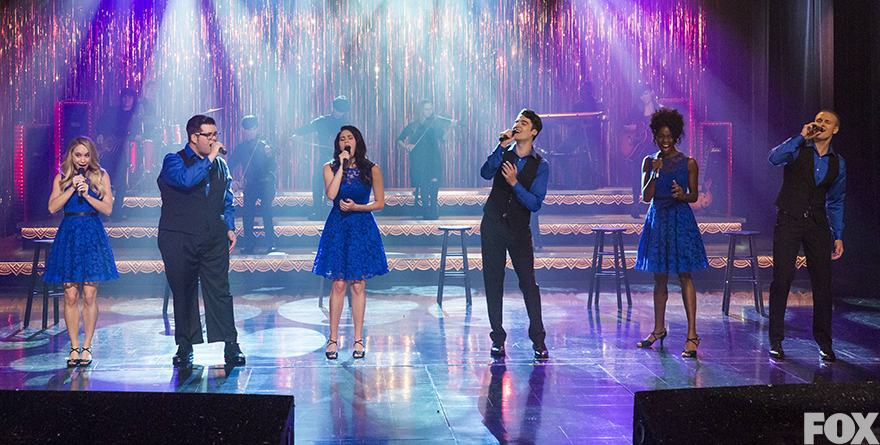 The new New Directions takes the stage for first time.