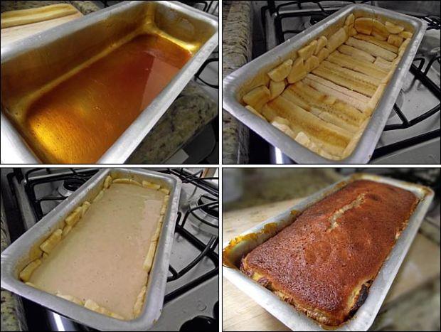 receita de bolo com banana amassada na massa