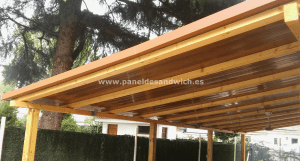 Panel Sandwich Teja Albero Envejecido con interior imitación madera