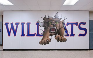 Custom Laminate Wall Panels Feature School Mascots