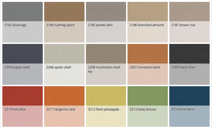Markerboard and Tackboard Color Options