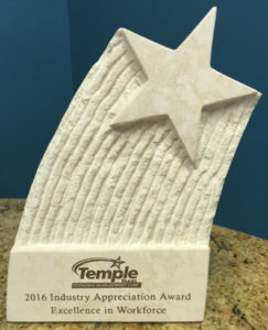 Temple Economic Development Corporation (TEDC) award