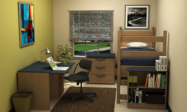 Residential Room 13 - Residence Hall Furniture