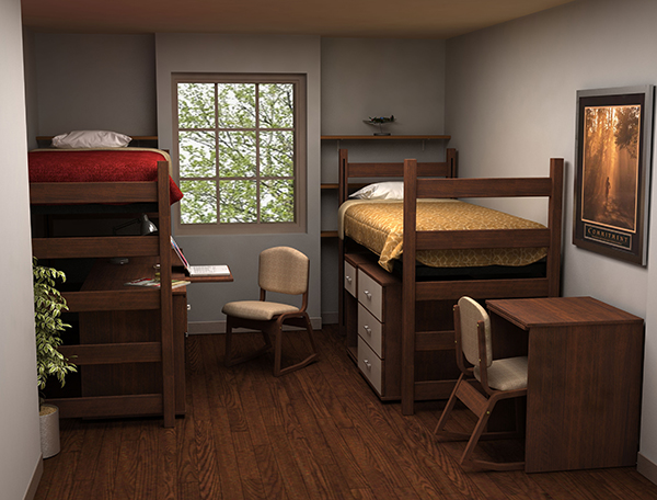 Residential Room 5 - Residence Hall Furniture