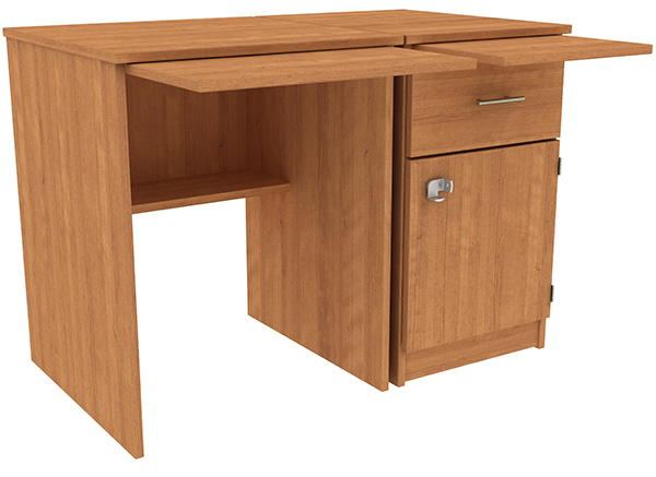 SPD-42-1_SecDoor_NoKSdrawer_ExpTop_RefShelf_AmberCherry_LG
