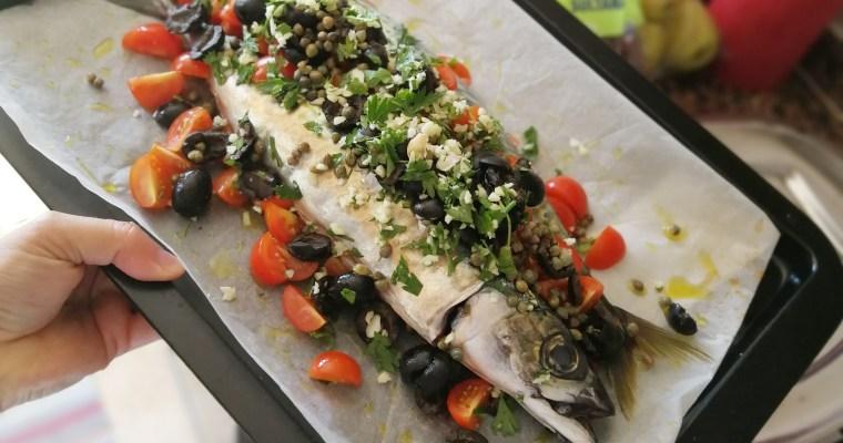Sgombri al forno – Caballas a la siciliana