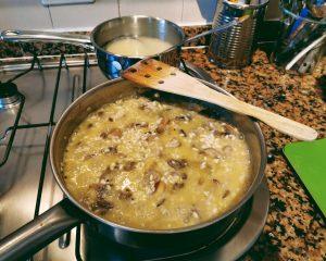 risotto con setas risotto ai funghi listo