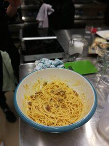 spaghetti pasta alla carbonara