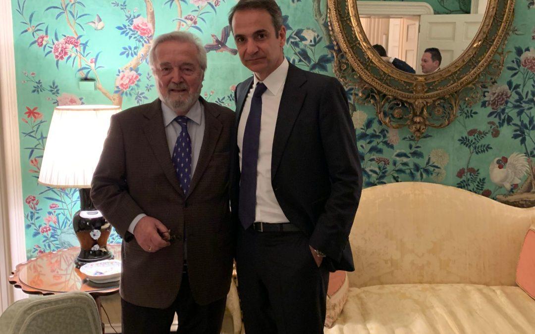 Kyriakos Mitsotakis meets Nicholas Gage in D.C. Jan 2020