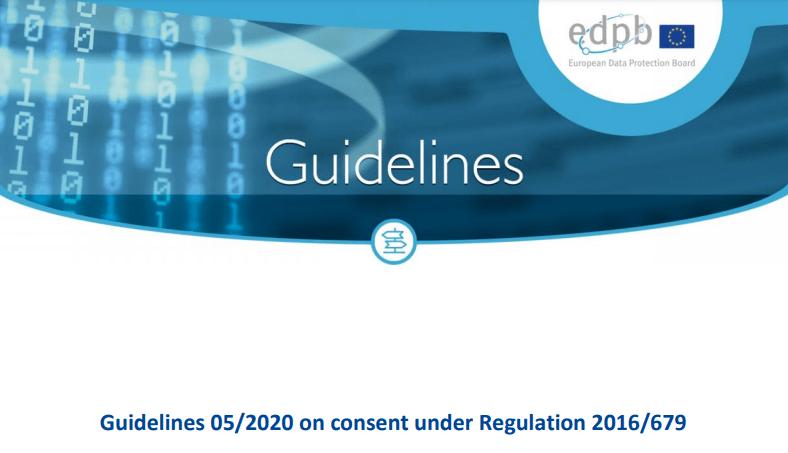 Linee guida EDPB sul consenso