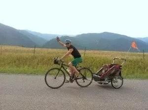 David and Trey on their shakedown pretrip ride around the neighborhood.