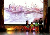 Lepa is a unique architecture of the Sama Dilaut. Children dance with fish as props along with Levi Azarcon.