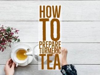 how to prepare turmeric tea and its health benefits