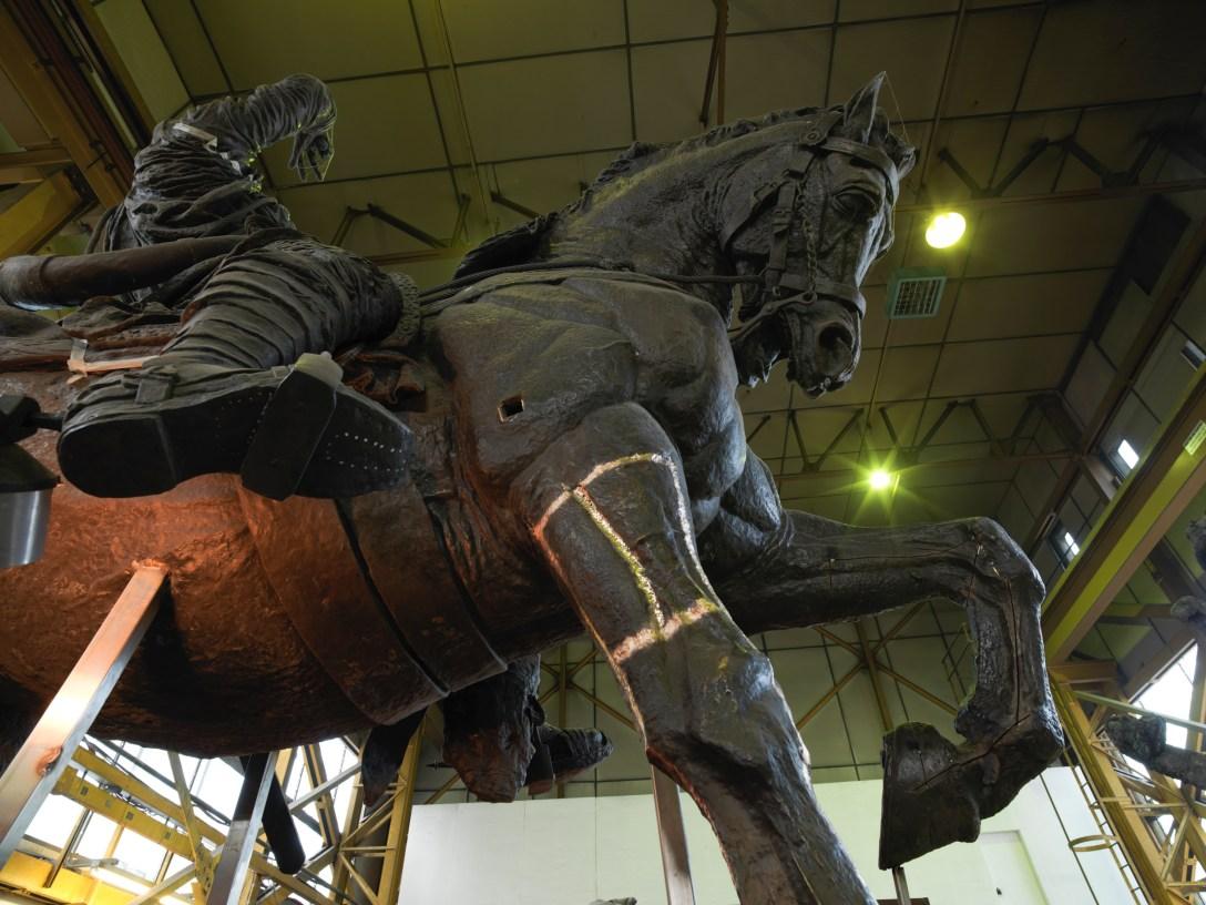 'Restoration' of Hugh Lupus 'Sculpture' by G.F. Watts at Pangolin Editions