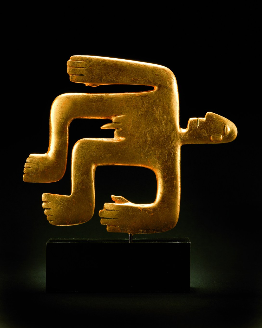 'Gold' 'Sculpture' by Jon Buck 'cast' by Pangolin Editions