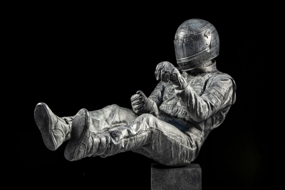 'Senna' 'Bronze' 'sculpture' by Paul Oz 'cast' at Pangolin Editions