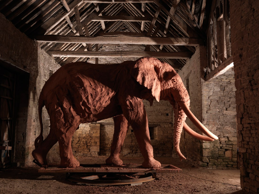 Monumental 'Bronze' 'sculpture' by 'artist' Mike Ghaui, 'cast' at Pangolin Editions