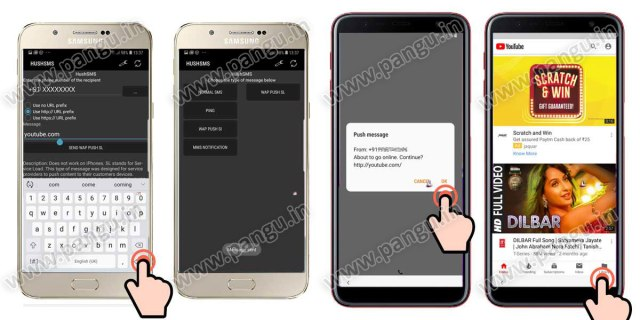 Samsung Galaxy On8 On8 Plus (2018) V8.0 Frp Lock Remove google account done send push sms url to frp locked mobile