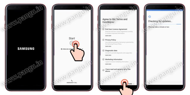 Samsung Galaxy A7 A7 Plus (2018) V8.0 Frp Lock Remove google account done reboot the samsung galaxy mobile after frp unlocked