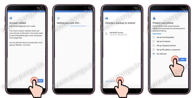 Samsung Galaxy On8 On8 Plus (2018) V8.0 Frp Lock Remove google account done complete initial setup after remove google account