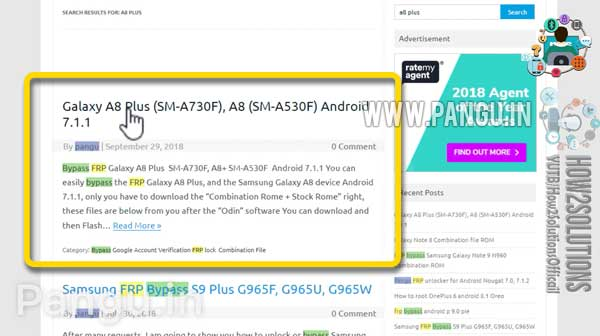 Samsung A530F Frp Unlock Combination U2 Working File Samsung Galaxy A8 (2018) A530F Remove frp Android 7.1.1 nougat