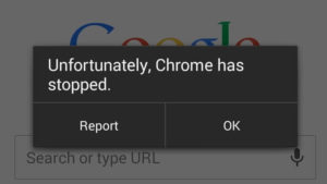 "Unfortunately, Chrome has stopped"" when opening links"