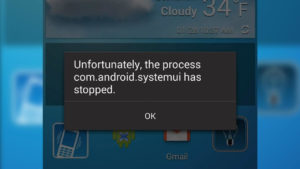 com.android.systemui has stopped