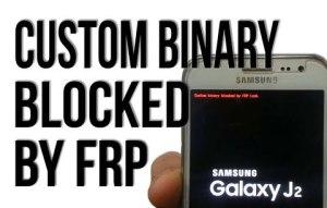 Custom binary blocked by reactivation FRP lock