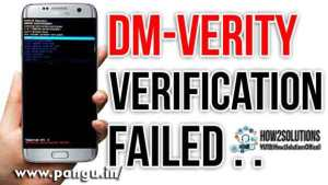 The Result of verifying signature is Dm-verity verification failed