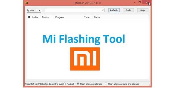 Xiaomi Mi Flashing tool