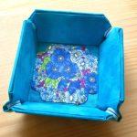 No.8 mini トレー リバティ Gloria Flowers blue … ¥2,000 (布・厚紙)(大きさ:縦・横約8cm x 高さ約2cm) (水濡れ厳禁)