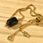 No.156 ブレスレット … ¥1,000 (ブルーゴールドストーン・ジルコニア)(金属アレルギー非対応)