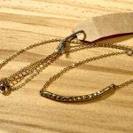 No.53 真鍮ネックレス(カーブ) … ¥4,500 (真鍮・銀ロウ)