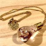 No.39 botanique(Pink) ネックレス … ¥860 (サイズ:約40cm)(ガラス・スチール・ドライフラワー) (金属アレルギー非対応)