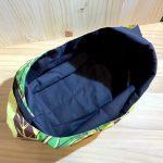 No.50 夏色のプリントの肩かけバッグ … ¥1,600(税込 … ¥1,760) (大きさ:30cm x 37cm) (素材:表地コットン100% 裏地コットン70%、ナイロン30%)
