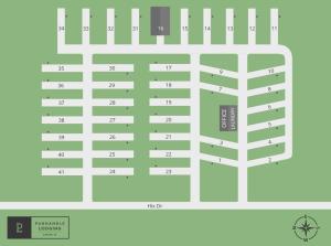 Panahandle Lodging RV Park Map