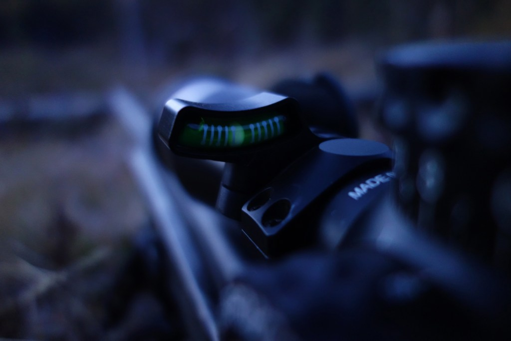 low light view of an Accuracy 1st scope level