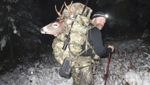 Sam Millard packing out his 2014 Idaho whitetail with a Kifaru EMR II